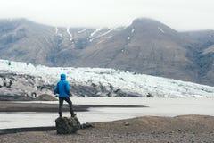 Iceberg nella laguna glaciale di Vatnajokull Fotografia Stock Libera da Diritti