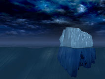 Iceberg at night Royalty Free Stock Photography