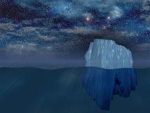Iceberg at night Stock Image