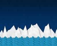 Iceberg in night sky, Stock Photo