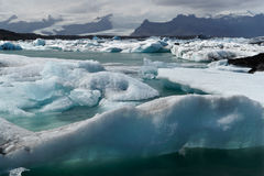 Iceberg no louro de Icelands Joekulsarlon Imagens de Stock Royalty Free