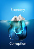 Iceberg in the ocean, concept of comparison Royalty Free Stock Image