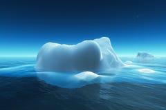 Iceberg. In the ocean, 3d render Stock Photography