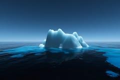 Iceberg. In the ocean, 3d render Royalty Free Stock Photo