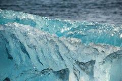 Iceberg on the ocean shore, texture close up, ice lagoon Joukulsarlon, Iceland Royalty Free Stock Image
