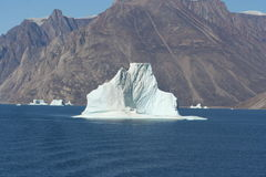 Iceberg off Greenland stock image