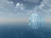 Iceberg in open sea Royalty Free Stock Photo