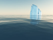 Iceberg in open sea royalty free illustration