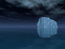 Iceberg in open sea Royalty Free Stock Image