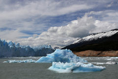 Iceberg and Perito Moreno landscape Stock Photos