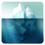 Iceberg picture in frame Stock Photography