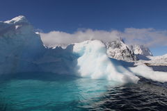 Iceberg with pool in Antarctica Stock Images