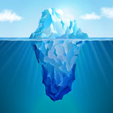 Iceberg realistic concept. For web and mobile devices Royalty Free Stock Image