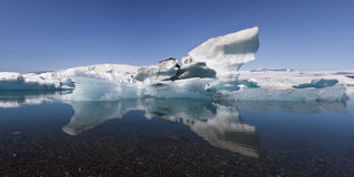 Iceberg and Reflection Jokulsarlon Lagoon, Iceland Royalty Free Stock Photos