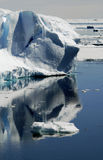 Iceberg reflections. In Antarctic waters Stock Images