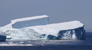 Iceberg Resembling a Tuning Fork Stock Photo