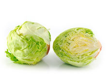 Iceberg salad - head of lettuce Royalty Free Stock Photos