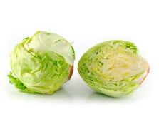 Iceberg salad - head of lettuce Royalty Free Stock Photos