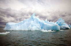 Iceberg at the San Rafael Lagoon, Patagonia, Chile. Iceberg at the San Rafael Lagoon, Patagonia Chile. The lagoon is located on the Pacific coast of the southern Royalty Free Stock Photos