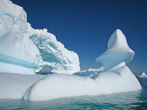 Iceberg sculpture. Beautiful ice sculptures in Antarctic waters, Vernadsky Stock Photography