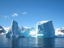 Iceberg sculpture. Beautiful ice sculptures in Antarctic waters, Vernadsky