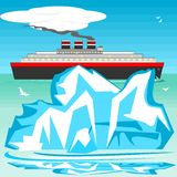 Iceberg and ship Stock Photos