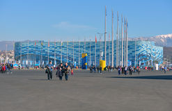 Iceberg skating palace in Sochi Stock Photography
