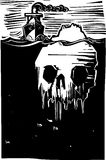 Iceberg Skull Stock Image