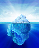 Iceberg solitary in the sea. Royalty Free Stock Photo