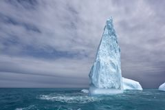 Iceberg on soutern Atlantic Ocean royalty free stock image