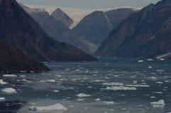 Icebergs - Scoresbysund Fjord - Greenland Royalty Free Stock Photos