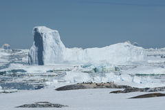 Iceberg in the Strait between the Antarctic Peninsula and the is Stock Images