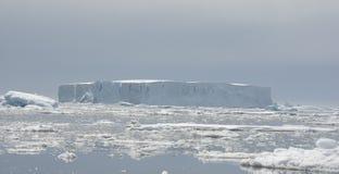 Iceberg tabulare. Fotografia Stock