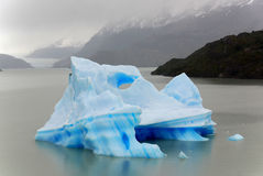 Iceberg, Torres del Paine Photographie stock
