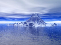 Iceberg_tu. Big antarctic  iceberg - 3d scene. More in my portfolio Stock Photo