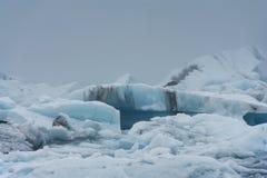 Iceberg in una nebbia, Jokulsarlon, Islanda Fotografia Stock Libera da Diritti