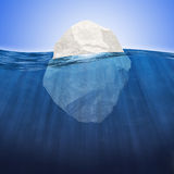 Iceberg under water Stock Photo