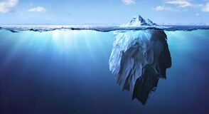 Free Iceberg - Underwater Risk - Global Warming Concept Royalty Free Stock Photos - 218682978