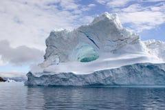 Iceberg in Uummannaq Fjord, Greenland. Iceberg on its way out of Uummannaq Fjord Royalty Free Stock Photos