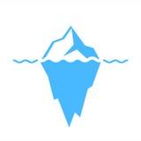 Iceberg vector icon. On white background Royalty Free Stock Photos