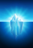 Iceberg. Vector illustration of iceberg. All elements are layered separately in  file Royalty Free Stock Photo