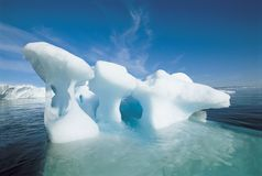Iceberg and water Royalty Free Stock Photos