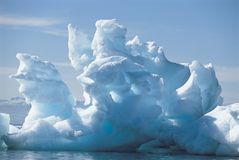 Iceberg and water Royalty Free Stock Images