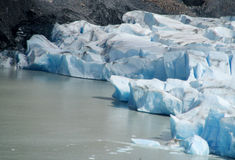 Iceberg in water, glaciar fields of Patagonia Stock Image
