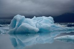 Iceberg with water reflection, Yokulsarlon lake, Iceland Stock Images