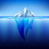 Iceberg in water vector background Stock Photography