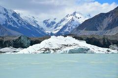 Iceberg y glaciar gigantes de Tasman Fotografía de archivo libre de regalías