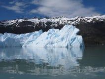 Iceberg y montañas en Calafate Fotografía de archivo