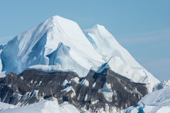 Icebergs échoués à la bouche de l'Icefjord près d'Ilulissat, G Photos libres de droits
