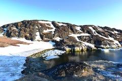 Icebergs énormes dans l'icefjord d'Ilulissat du Groenland Mai 2016 Images stock